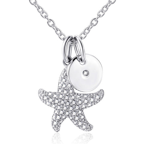 Zirconia Fish Star Silver And Round Disc Pendant Wholesale 2019