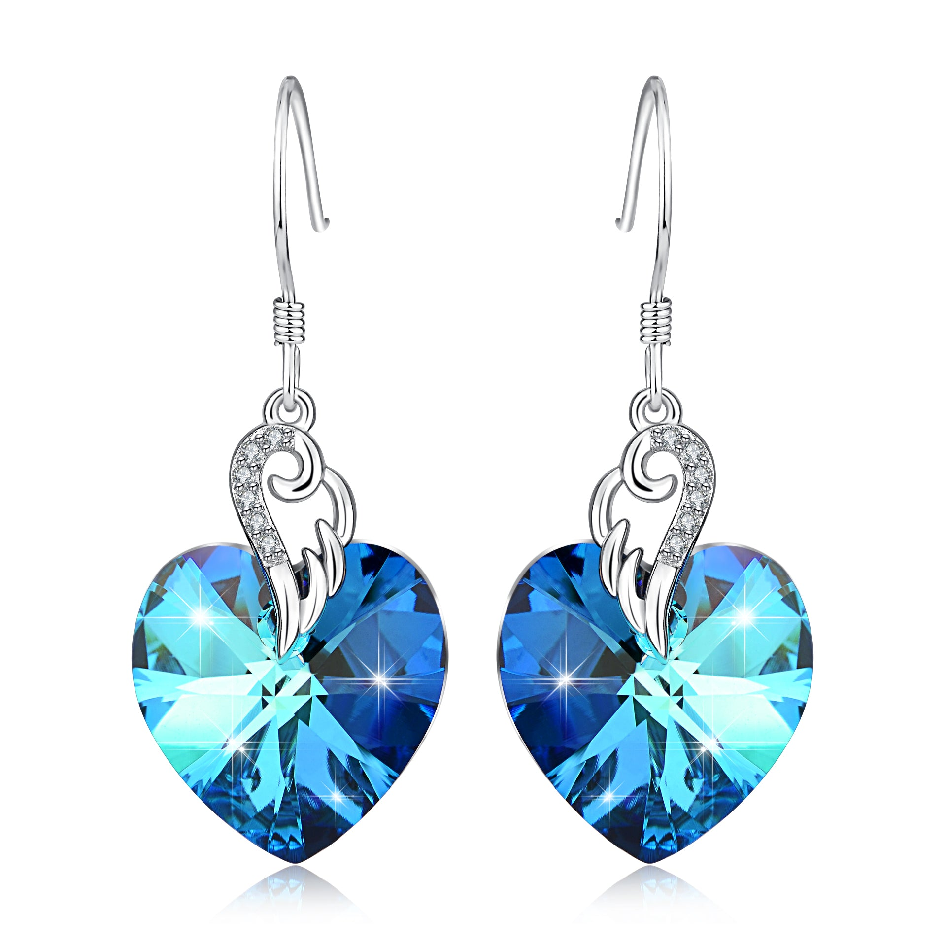 Heart Pendant Earring For Women Girls Lovers Cute Simple 925 Silver