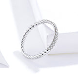 S925 Sterling Silver Couple Ring White Gold Plated Zircon Ring