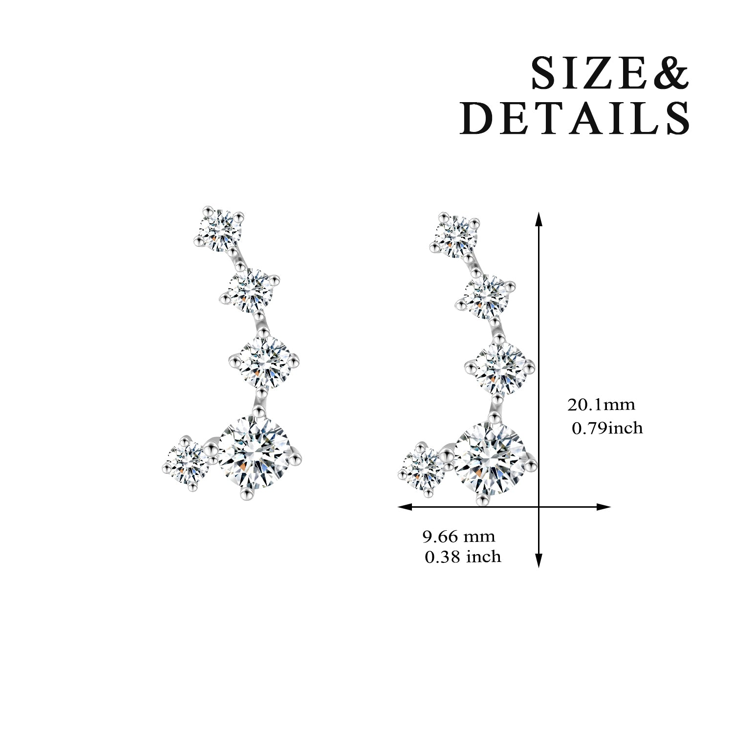 Fashion Jewellery Accessories Latest Design Shining Zirconia Earrings Designs