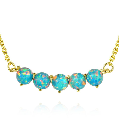colorful opal beads synthesis pendants Sterling Silver hot selling  Fashion Jewelry necklace