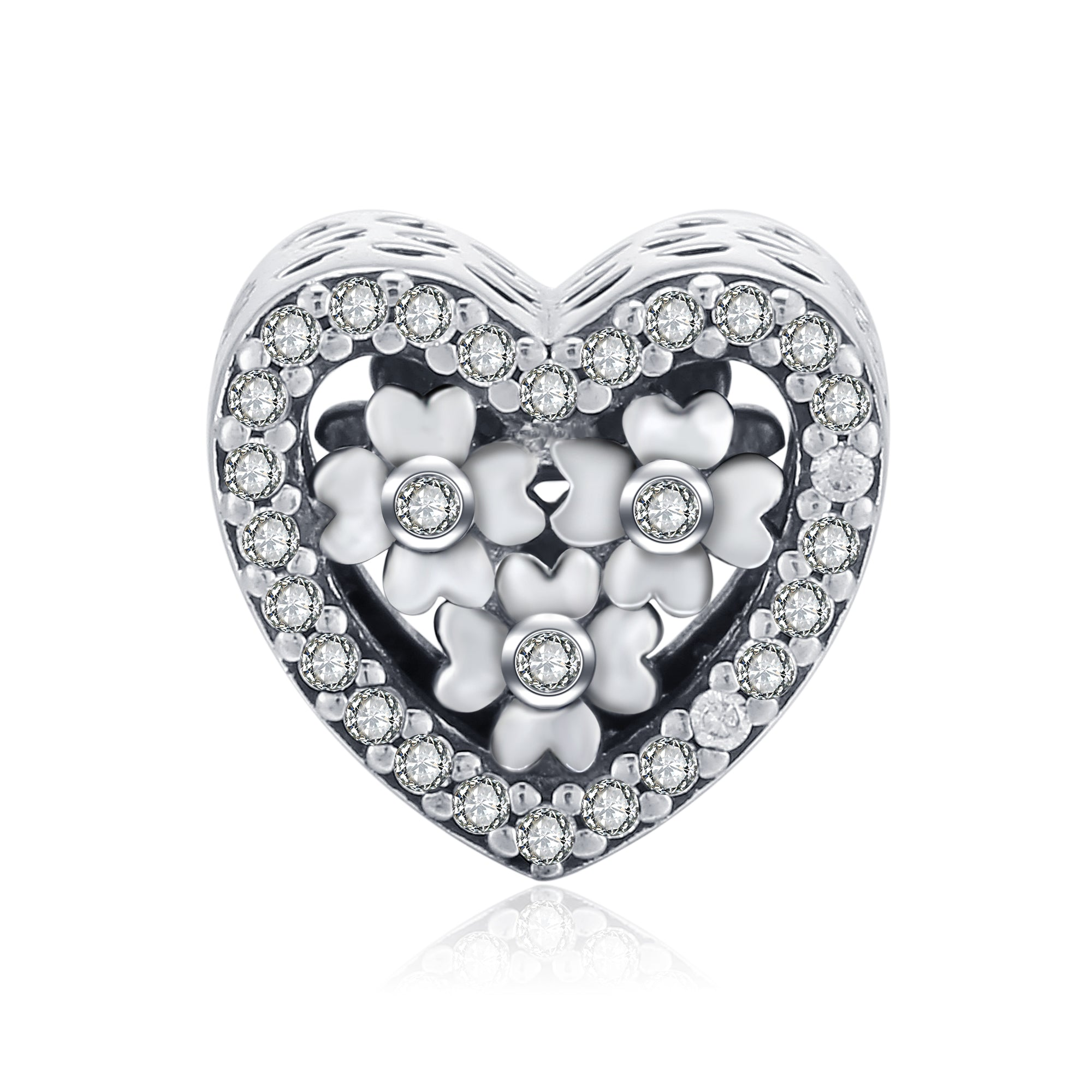 Manufacturing Loving Heart Beads Four-Leaf Clover Cubic Zirconia Beads