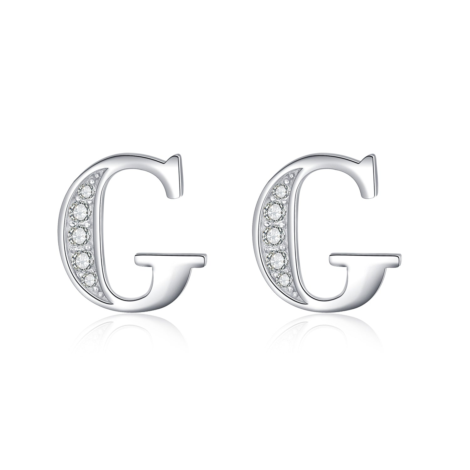 New Design Hot Selling Fashion 925 Sterling Silver Alphabet Stud Earring
