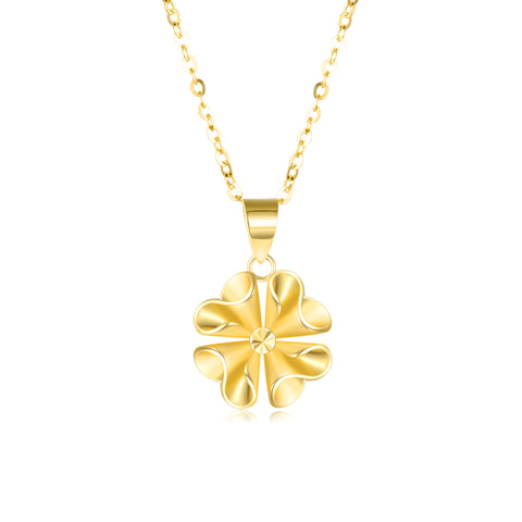 18K Gold European And American Fashion Explosion Flower Necklace Luxury Boutique Jewelry