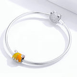 925 Sterling Silver Cute Cat Charm Fit DIY Bracelet Precious Jewelry For Women