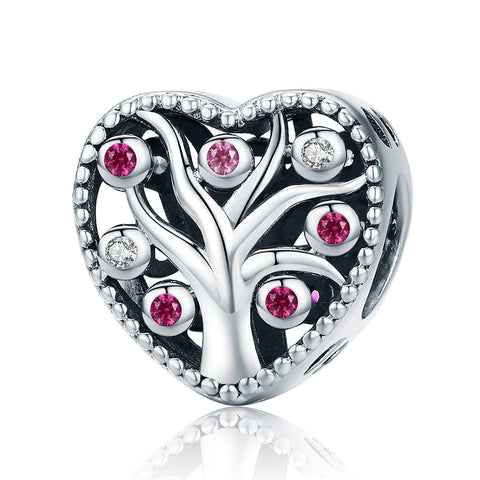 Silver Zirconia Tree of Life Charms