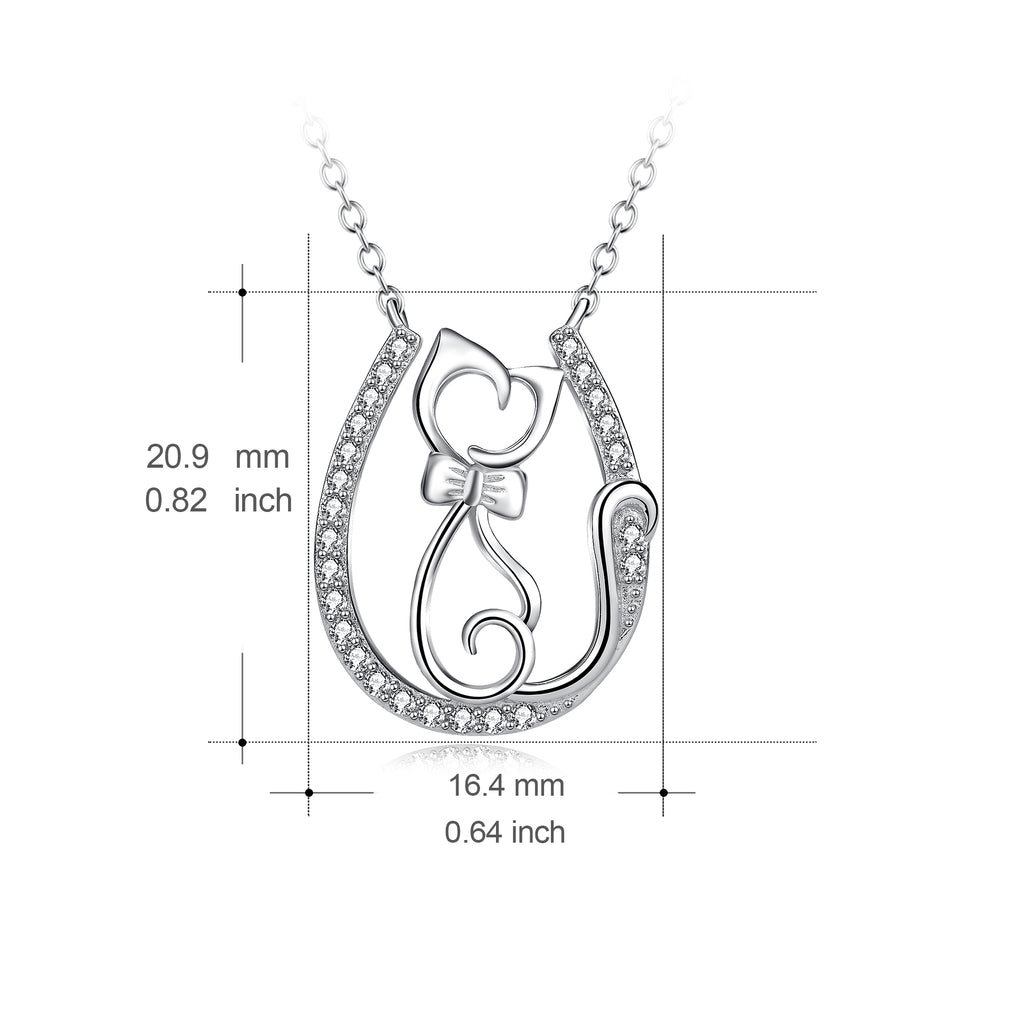 Small Cat Zirconia Women Jewelry Design Necklace New Arrival