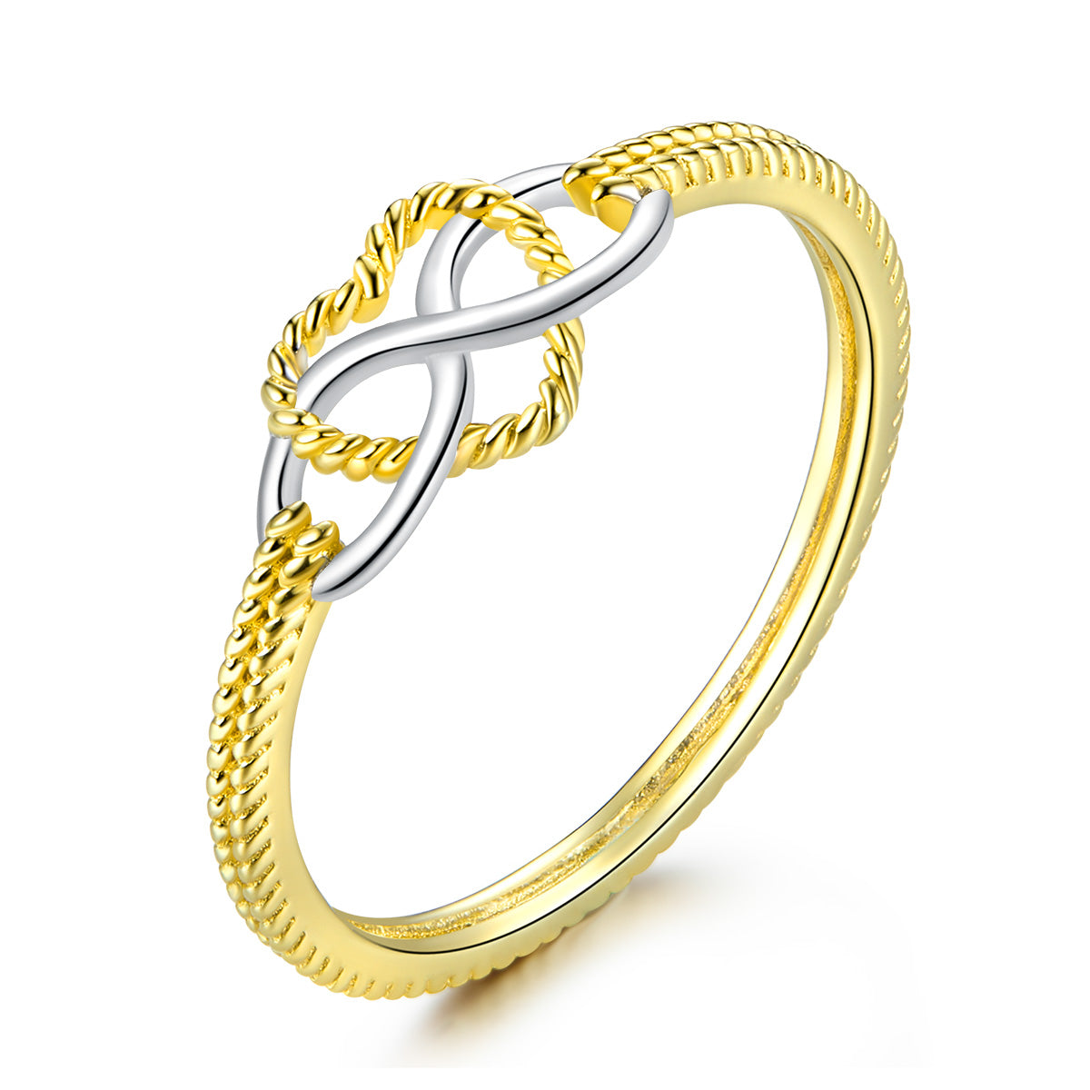 infinity heart-shaped ring