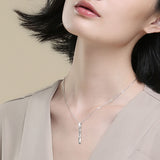 Pour Toujours Amour Geometric Necklace Bar Pendant Hot Selling Necklaec