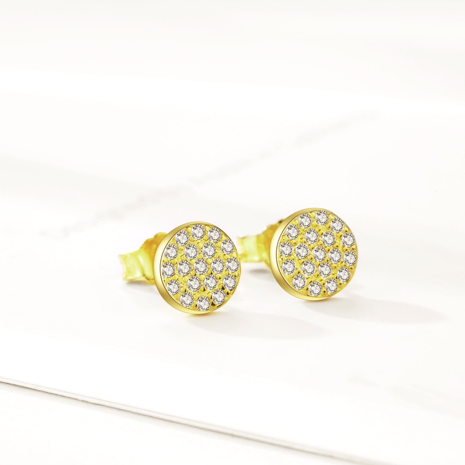 Wholesale Custom Small Moq Light Weight Round Gemstone Earrings For Women