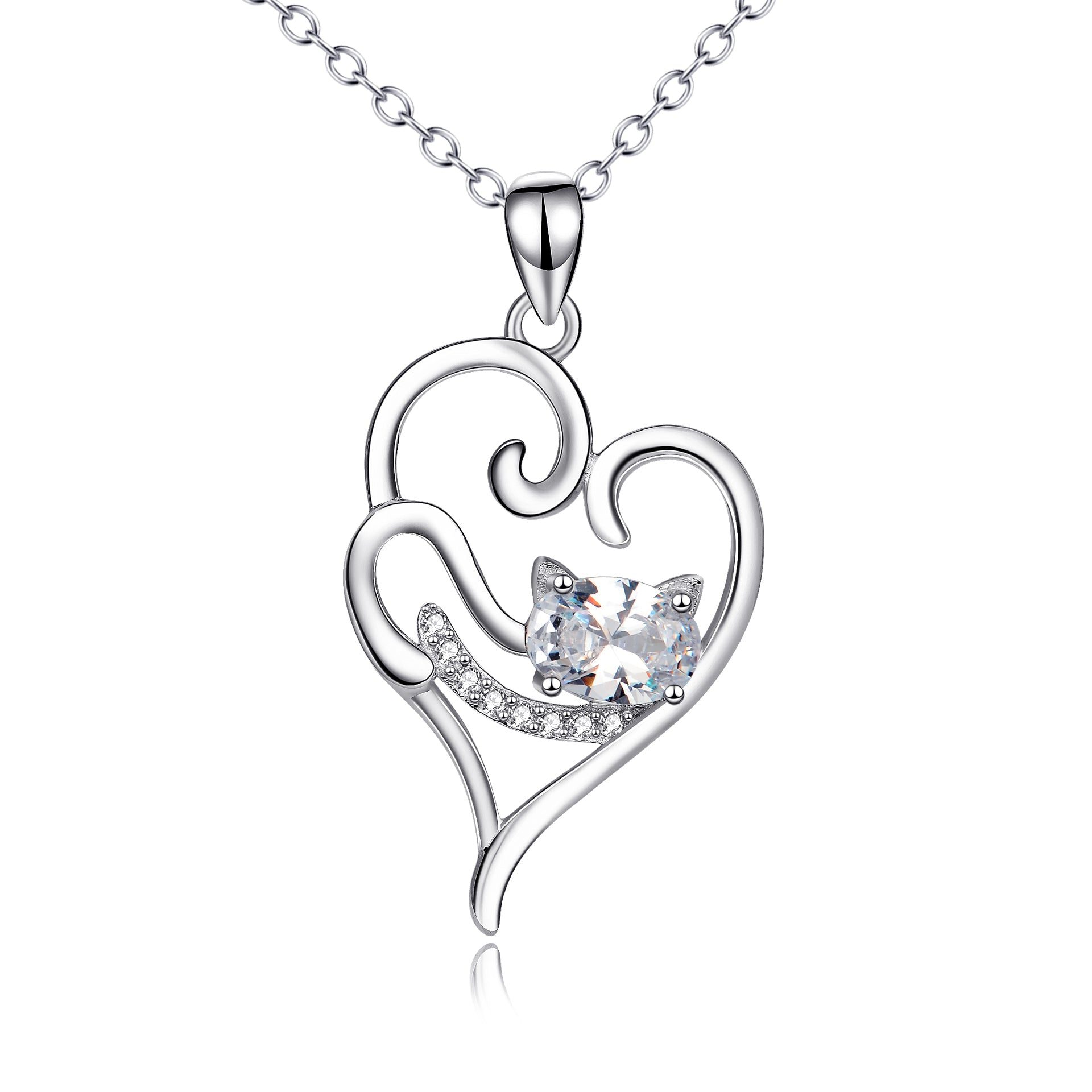 bulk wholesale heart pendant fashion jewelry factory necklace with zirconia