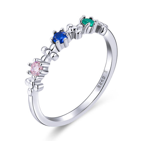 dream rainbow silver ring