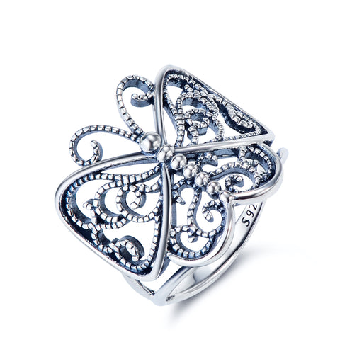 Animal Butterfly Ring Factory 925 Sterling Silver Ring Size Infinity Wedding Ring