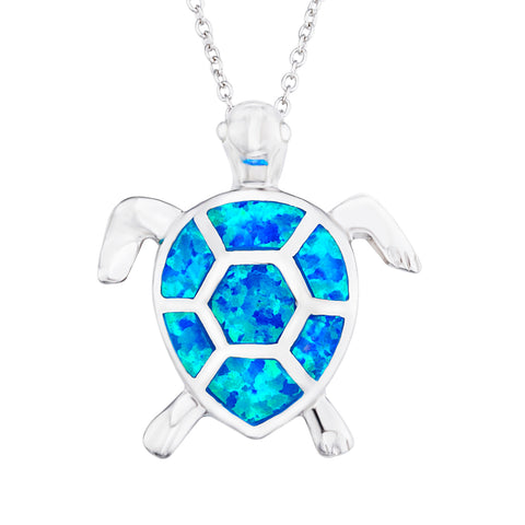 Unique Charm Turtle Pendant Necklace Opal Jewellery Necklace 2019