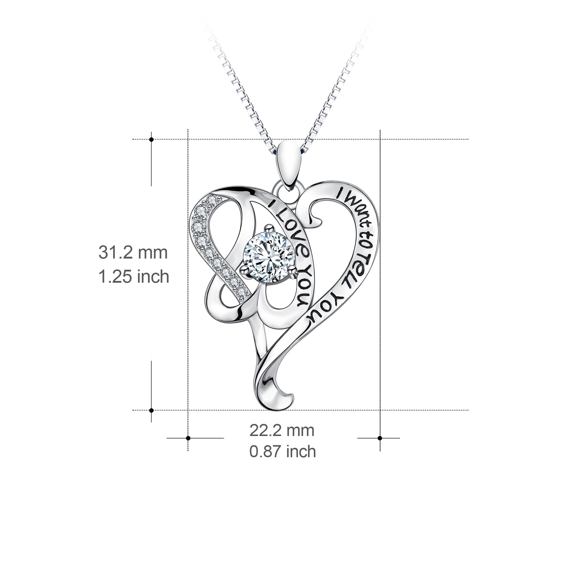 Lover I Want To Tell You I Love Your Gift Necklace Design Zirconia Necklace