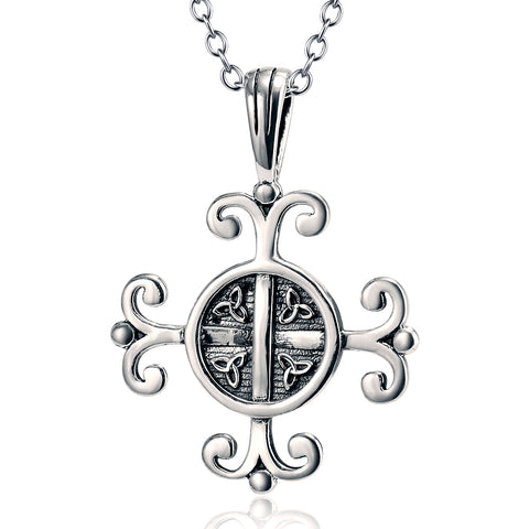 Celtic Good Luck Knot Necklace Jewelry 925 Sterling Silver Necklace