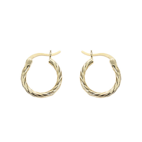 S925 Sterling Silver Earrings European And American Style Pop Accessories Round Twist