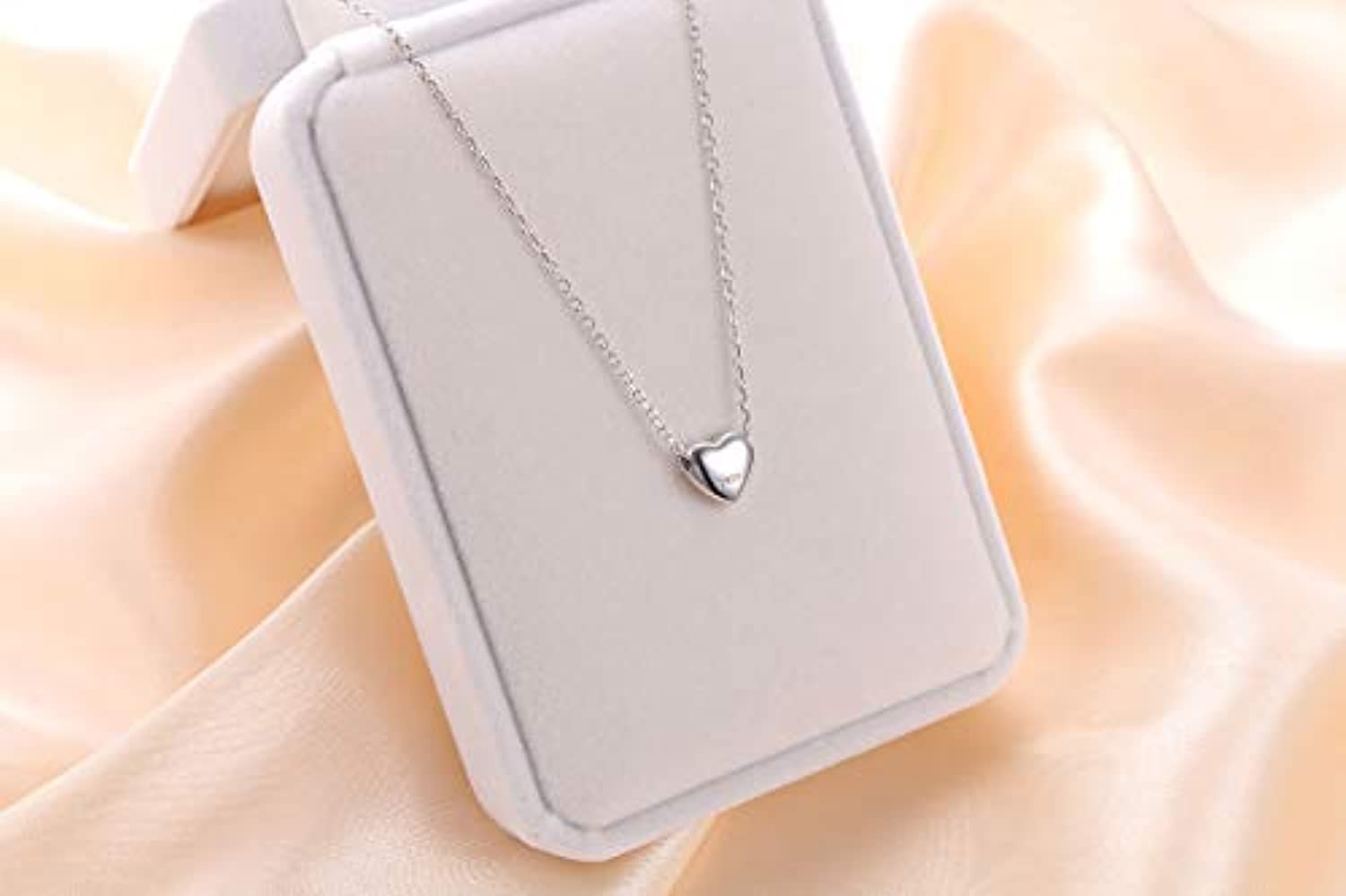 925 Sterling Silver Love Heart Pendant Necklace for Women Girls Her Birthday Gift