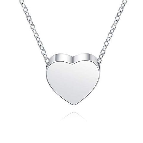 Hold My Love Heart Cremation Pendant Necklace
