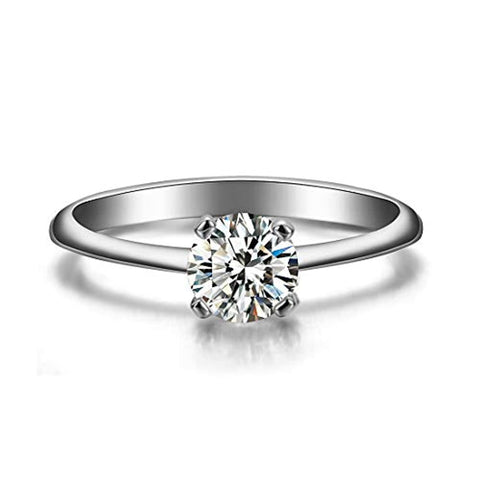 14K Gold  Moissanite Engagement Wedding Ring