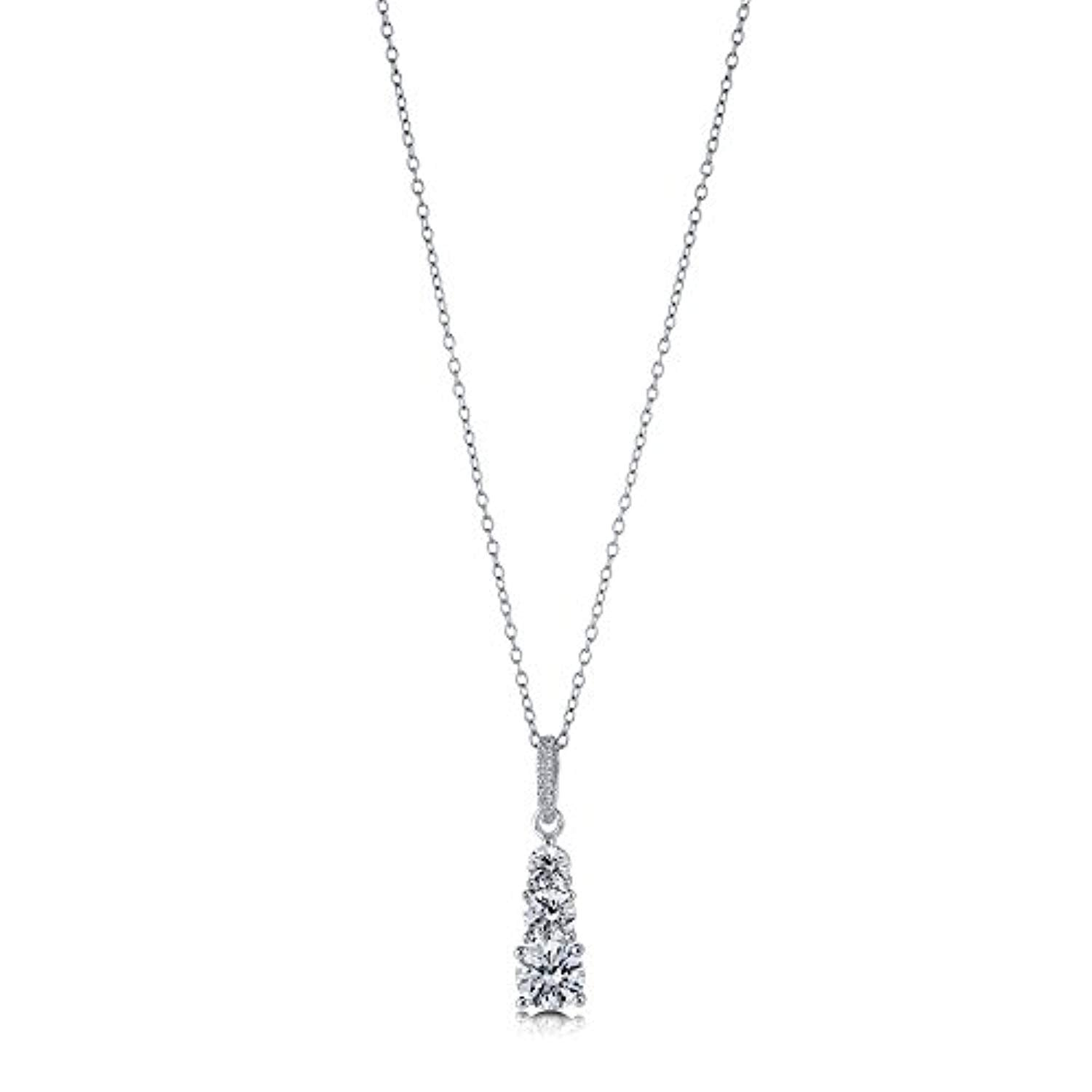 Rhodium Plated Pendant Necklace