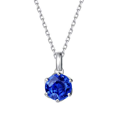 14K Solid White Gold Genuine Natural Tanzanite Solitaire Pendant Necklace December Birthstone Gemstone Fine Jewelry Gifts