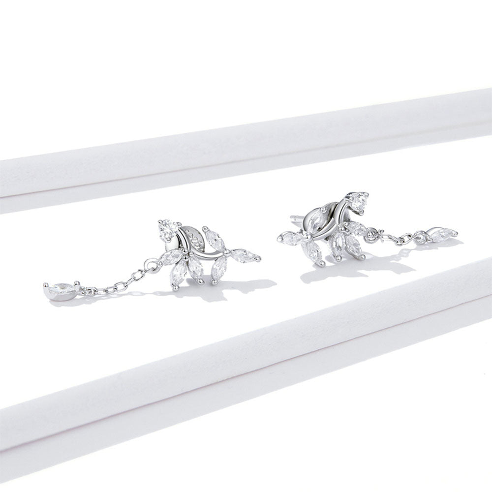 925 Sterling Silver Exquisite Shiny Dazzling Stud Earrings Precious Jewelry For Women