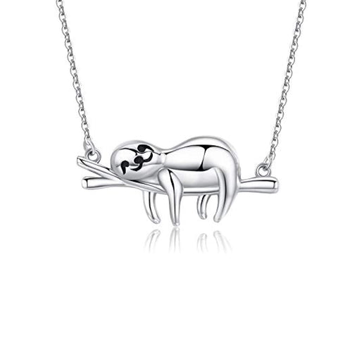Silver Sloth Necklace Pendants