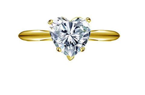 2.10 ct Unique Solitaire Anniversary Engagement Wedding Bridal Promise Ring in 14k Yellow Gold For Lovely Ladies
