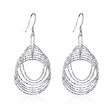 Endless Circle Dangle Earrings Geometric Circle Pendant Drop Earrings