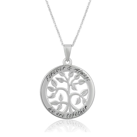 Celtic Tree of  Life  Necklace Pendant S925 Sterling Silver Pendant Messages Jewelry
