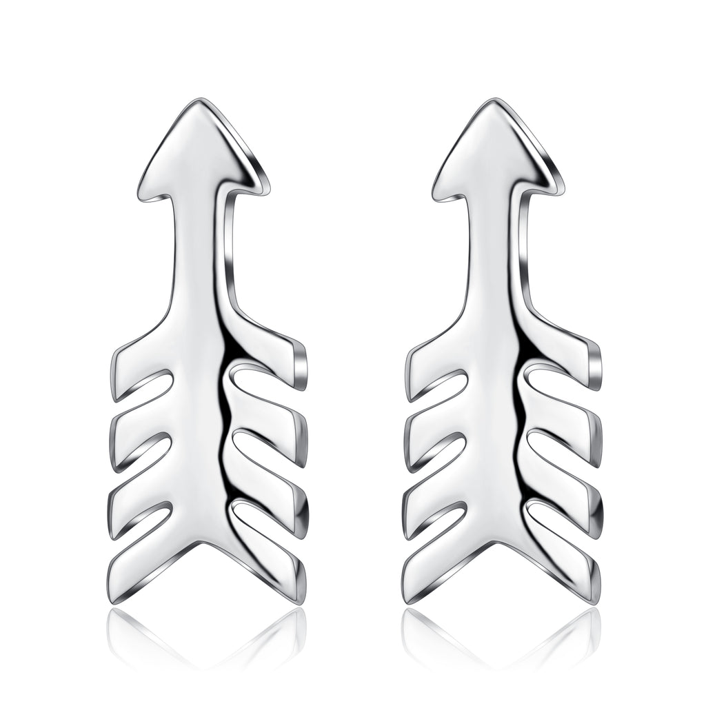 Anchor Earrings Design Latest Fashion Luxury Rhodium Plating Silver Jewelry