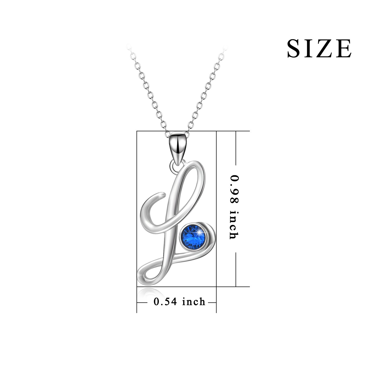 New Arrival Fashion Simple Style Personality Letter 18 Inch Chain Pendant L Necklace