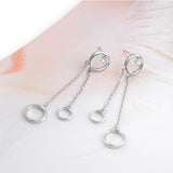 Circle Drop Dangle Earrings Circle Pendant Long Cheap Good Quality Earrings