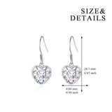 Love Cage Earrings Beautiful Ball Cage Pendant Earrings Silver Design
