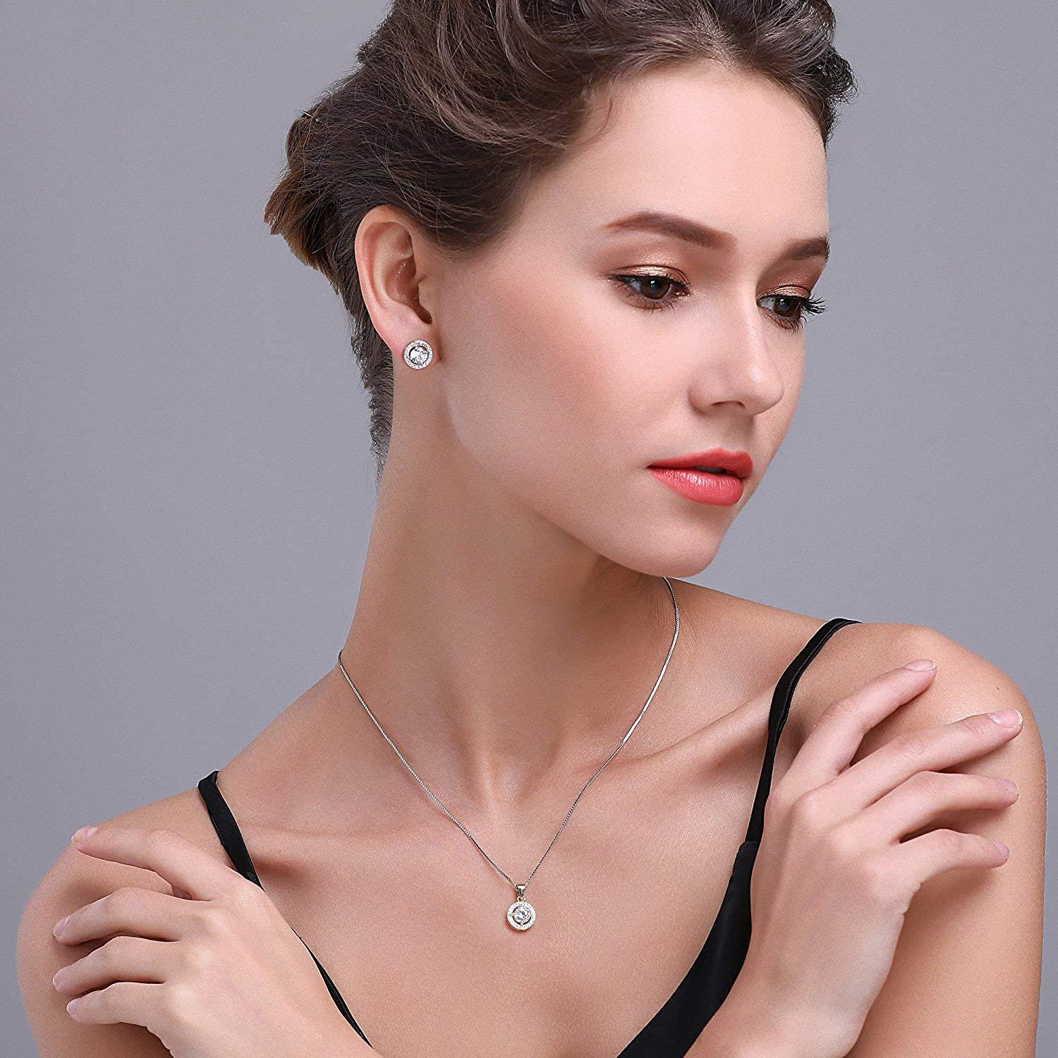 S925 Fashion Personality Full Diamond Hollow Round Earrings Jewelry Cross-Border Exclusive