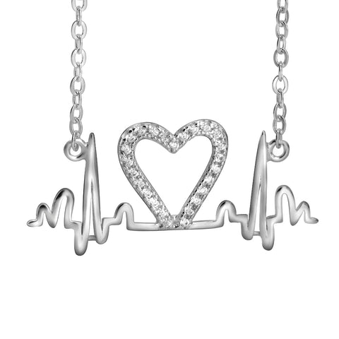Large Heartbeat Pendant Necklace Hot Sale New Design Style