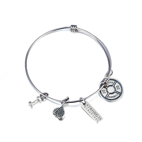 Lovely Adjustable Silver Bangles For Baby's Gift