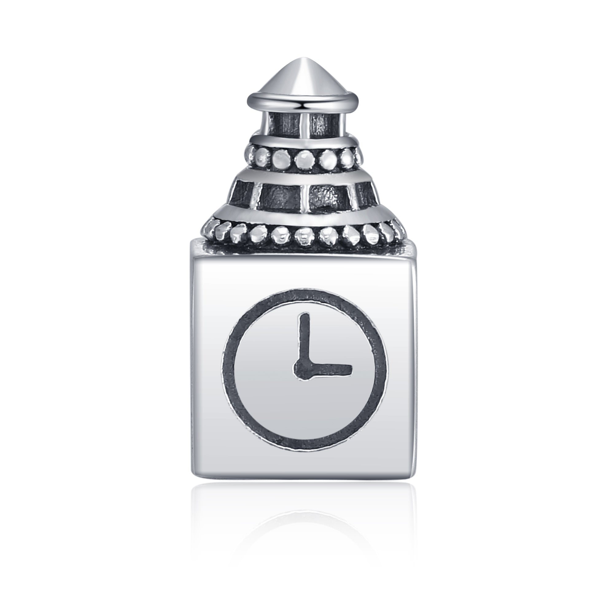 World Big Ben Shape Beads 925 Sterling Silver Fashion Design Bracelet Bead And Charm