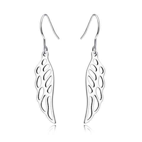 The Wings Of An Angel Design Drop Earring For Special Days 925 Sterling Silver