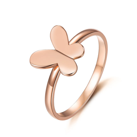 18K Gold Fashion Explosion Butterfly Ring Couple Ring Female Korean Version Of Boutique Jewelry