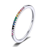 colorful zircon ring