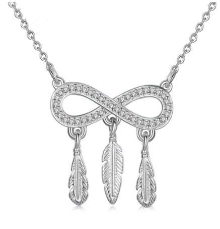 Love Feather Pendant Necklace