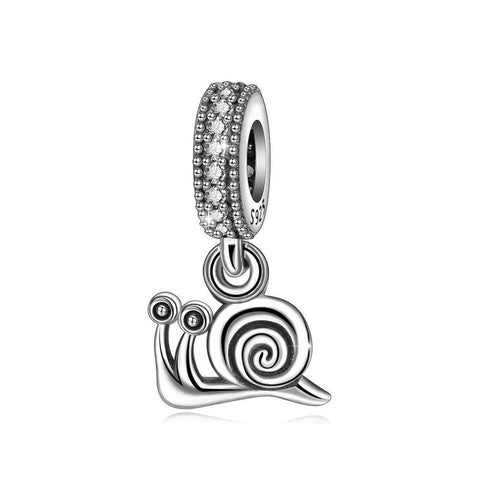 Cute Little Snail Animal Beads  Sterling Silver Europe and America Creative Bracelet Beads Jewelry Accessories