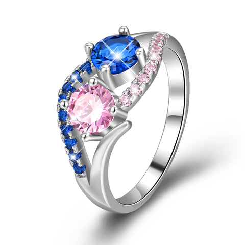 Wholesale 925 Sterling Silver Jewelry, Wedding Engagement Ring With Cubic Zirconia