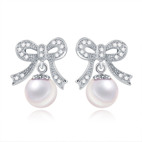 small pearl beads micro stud earrings