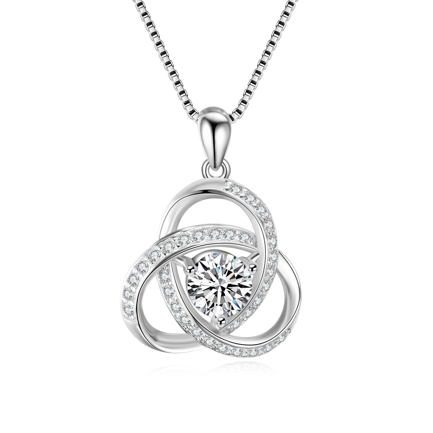 Manufacturer Professional 925 Sterling Silver Chain Necklaces Celtic Knot Pendant Necklaces