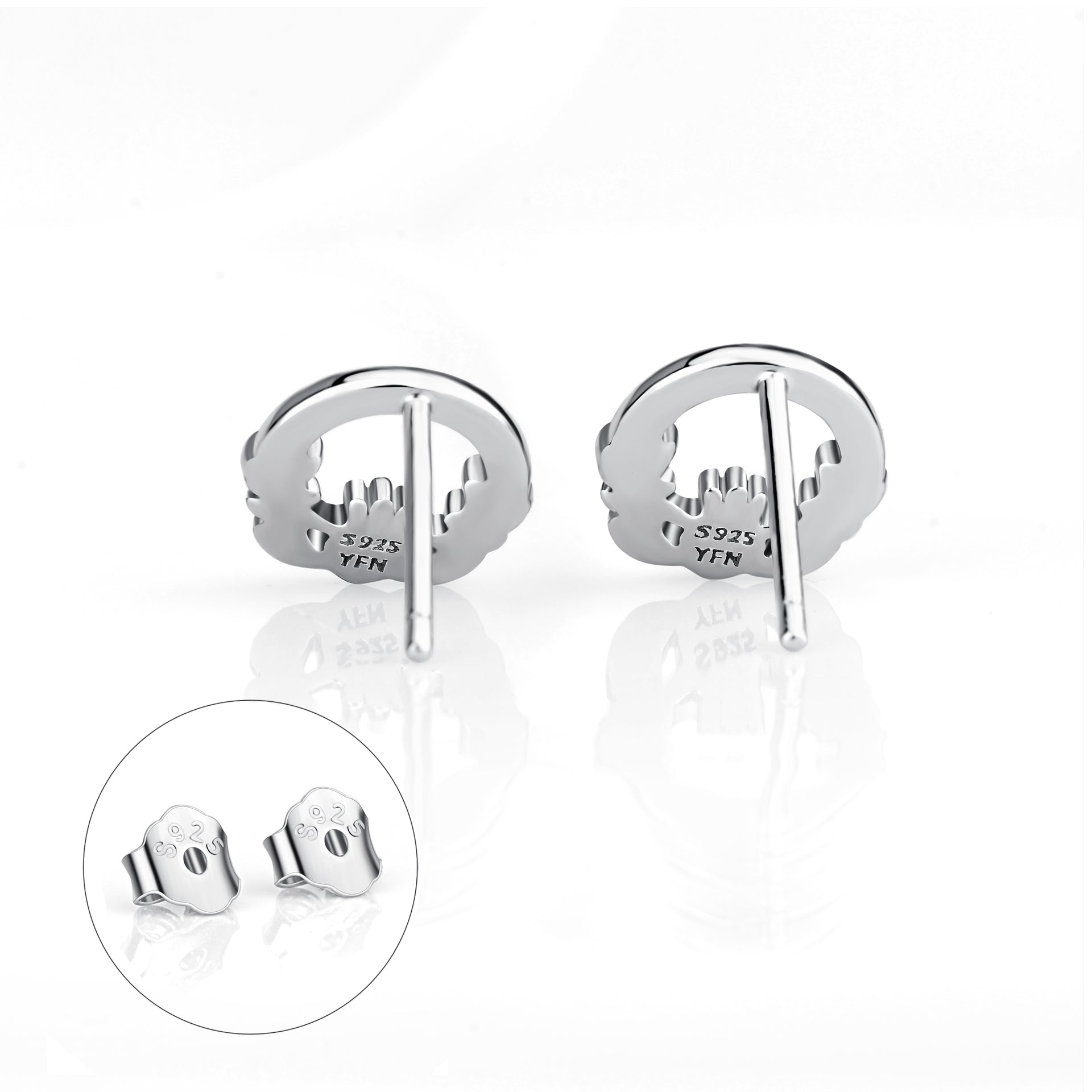 Victory Garland Design Earrings Girl Cute Gift Silver Earring Wholesale