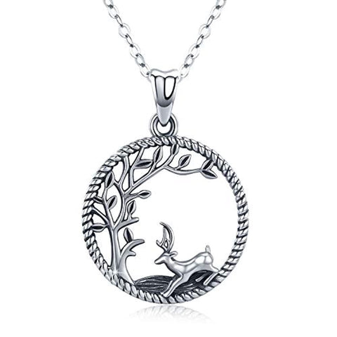 Wholesale Deer Tree Of Life  Necklace
