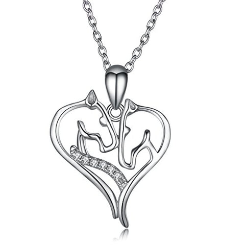 Angel caller Horse Necklace